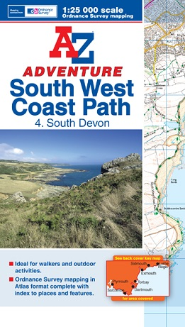 A-Z Adventure Atlas of the South West Coast Path - South Devon