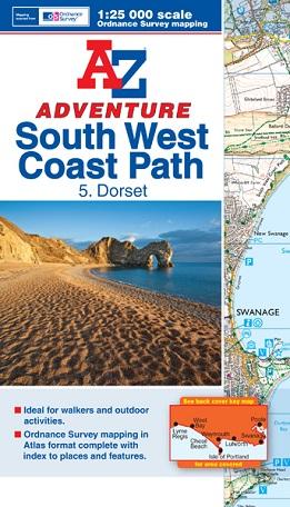 A-Z Adventure Atlas of the South West Coast Path - Dorset