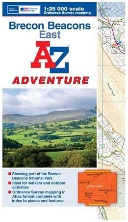 Brecon Beacons East - A-Z Adventure Atlas