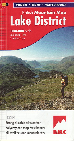 British Mountain Map - Lake District