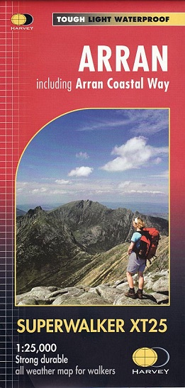 Arran Superwalker XT25 Map - inc the Arran Coastal Way