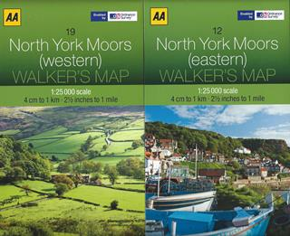 AA Walker's Map Set - North York Moors