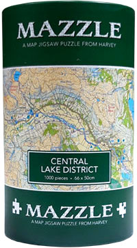 Central Lake District: Mazzle Map Jigsaw Puzzle