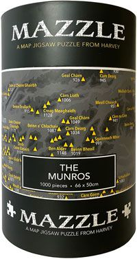 The Munros: Mazzle Map Jigsaw Puzzle