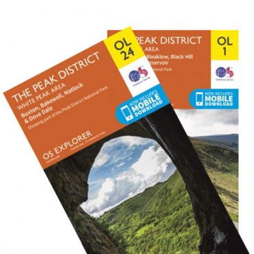 Peak District OS Map Bundle