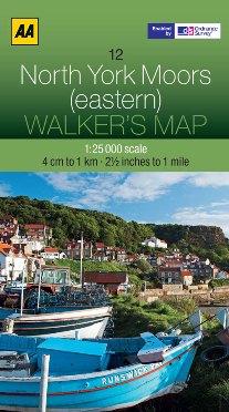 AA Walker's Map - North York Moors (Eastern)