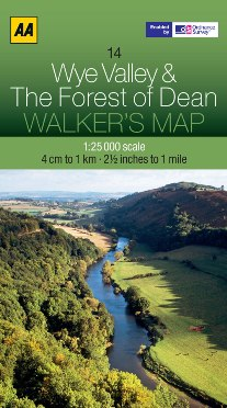 AA Walker's Map - Wye Valley & The Forest of Dean