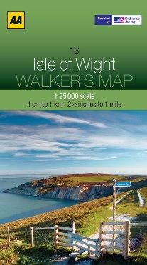AA Walker's Map - Isle of Wight