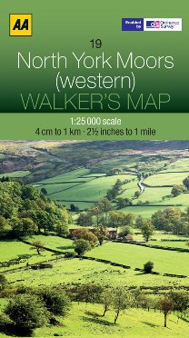 AA Walker's Map - North York Moors (Western)
