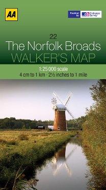 AA Walker's Map - The Norfolk Broads