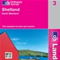 OS Landranger Map 3 Shetland - North Mainland