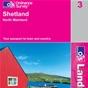 OS Landranger Map 3 Shetland - North Mainland