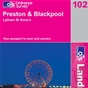 OS Landranger Map 102 Preston & Blackpool