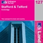 OS Landranger Map 127 Stafford & Telford