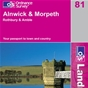 OS Landranger Map 81 Alnwick & Morpeth