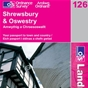 OS Landranger Map 126 Shrewsbury & Oswestry