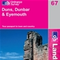 OS Landranger Map 67 Duns, Dunbar & Eyemouth