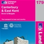 OS Landranger Map 179 Canterbury & East Kent