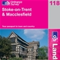 OS Landranger Map 118 Stoke-on-Trent & Macclesfield