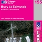 OS Landranger Map 155 Bury St Edmunds