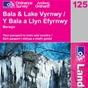 OS Landranger Map 125 Bala & Lake Vyrnwy