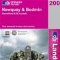 OS Landranger Map 200 Newquay & Bodmin