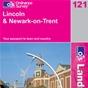 OS Landranger Map 121 Lincoln & Newark-on-Trent