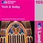 OS Landranger Map 105 York & Selby