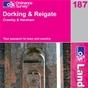 OS Landranger Map 187 Dorking & Reigate