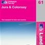 OS Landranger Map 61 Jura & Colonsay