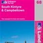 OS Landranger Map 68 South Kintyre & Campbeltown