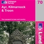 OS Landranger Map 70 Ayr, Kilmarnock & Troon
