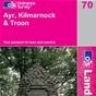 OS Landranger Map 70 Ayr, Kilmarnock & Troon