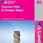 OS Landranger Map 80 Cheviot Hills & Kielder Water