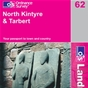 OS Landranger Map 62 North Kintyre & Tarbert