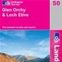 OS Landranger Map 50 Glen Orchy & Loch Etive