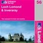 OS Landranger Map 56 Loch Lomond & Inveraray