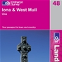 OS Landranger Map 48 Iona & West Mull