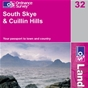 OS Landranger Map 32 South Skye & Cuillin Hills