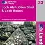 OS Landranger Map 33 Loch Alsh, Glen Shiel & Loch Hourn