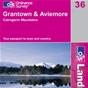 OS Landranger Map 36 Grantown & Aviemore
