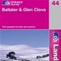 OS Landranger Map 44 Ballater & Glen Clova