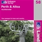 OS Landranger Map 58 Perth & Alloa