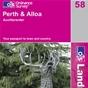 OS Landranger Map 58 Perth & Alloa