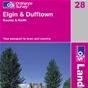 OS Landranger Map 28 Elgin & Dufftown