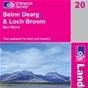 OS Landranger Map 20 Beinn Dearg & Loch Broom