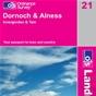 OS Landranger Map 21 Dornoch & Alness