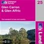 OS Landranger Map 25 Glen Carron & Glen Affric