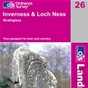 OS Landranger Map 26 Inverness & Loch Ness