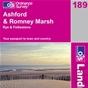OS Landranger Map 189 Ashford & Romney Marsh